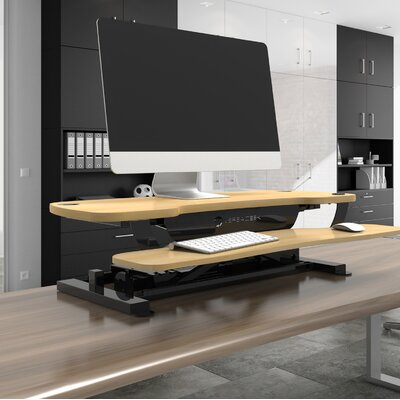 Standing Desk Conversion Unit Size: 36 W x 24 D, Color: Maple
