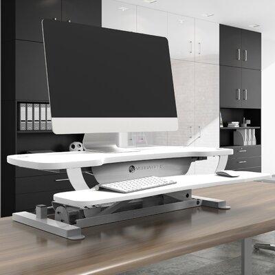 Standing Desk Conversion Unit Size: 36 W x 24 D, Color: White