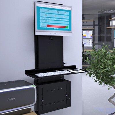 Ultra Slim Height Adjustable Workstation Finish: Black