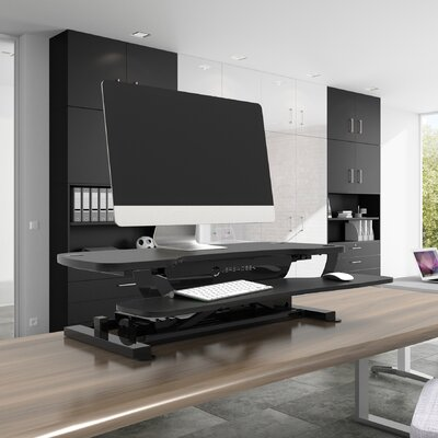 PowerPro 20 H x 30 W Standing Desk Conversion Unit Finish: Black