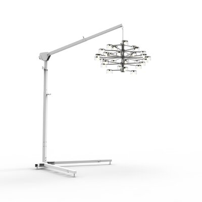 Lumos from the Floor 5-12 H Chandelier Lifts Finish: White