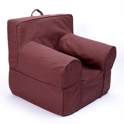 Kids Box Cushion Armchair Slipcover Color: Brown
