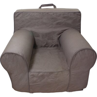 Kids Arm Chair Slipcover Color: Chocolate Khaki