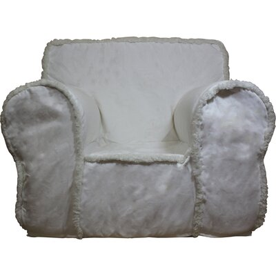 Kids Box Cushion Armchair Slipcover Color: Ivory