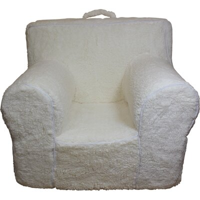 Kids Box Cushion Armchair Slipcover Color: Cream