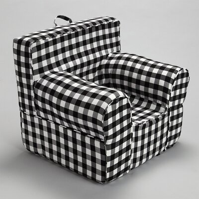 Kids Box Cushion Armchair Slipcover Color: Black/Gray
