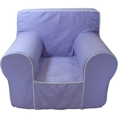 Kids Arm Chair Slipcover Color: Lavender/White