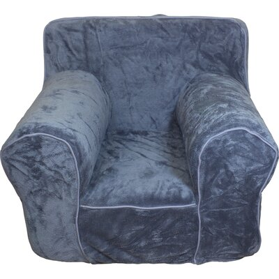 Kids Box Cushion Armchair Slipcover Color: Gray