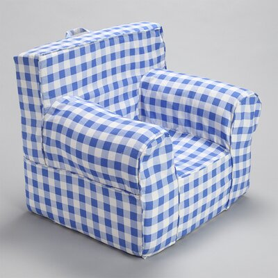 Kids Box Cushion Armchair Slipcover Color: Blue/Gray