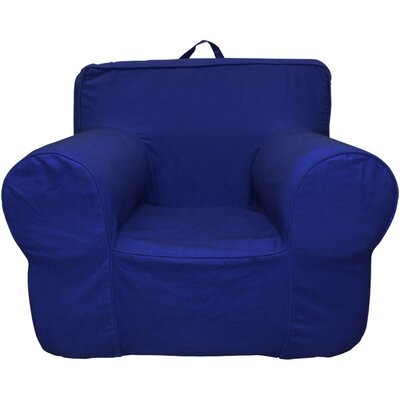 Kids Box Cushion Armchair Slipcover Color: Navy Blue
