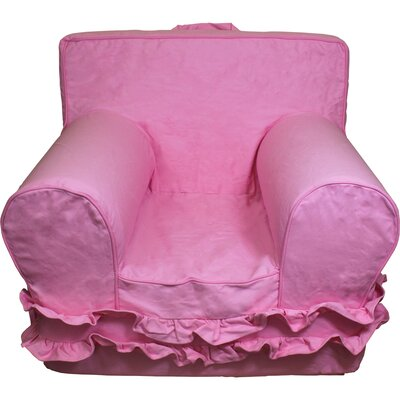 Kids Arm Chair Slipcover Color: Pink