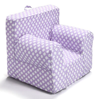 Kids Arm Chair Slipcover Color: Purple/White