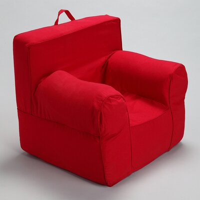 Kids Box Cushion Armchair Slipcover Color: Red