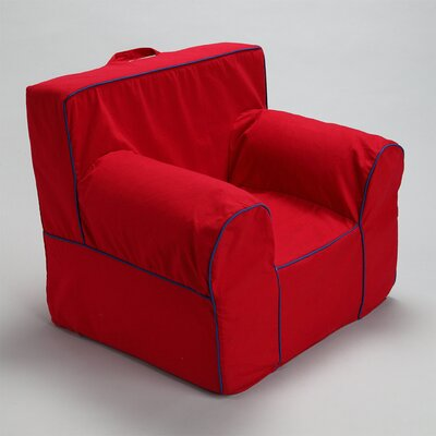 Kids Box Cushion Armchair Slipcover Color: Red/Blue