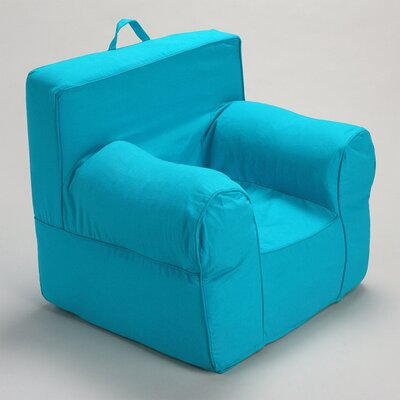 Kids Box Cushion Armchair Slipcover Color: Sky Blue