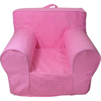 Kids Box Cushion Armchair Slipcover Color: Hot Pink