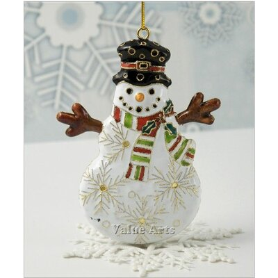 Cloisonne Snowman Ornament