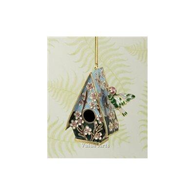 Imperial Enamelling Cloisonne Bird House Ornament (Set of 4)