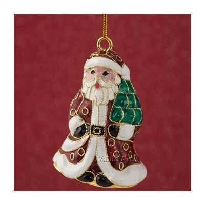 Cloisonne Santa Bell Ornament (Set of 4) 2044E4