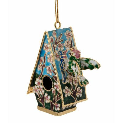 Imperial Enamelling Cloisonne Bird House Ornament (Set of 4)