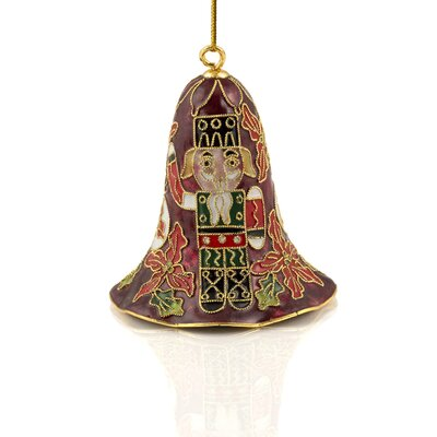 Cloisonne Christmas Lily Bell Ornament (Set of 6)