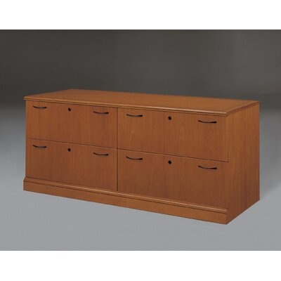 Belmont 4-Drawer Credenza File Finish: Executive Cherry Product Image 12