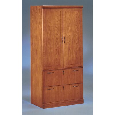 Belmont 2 Door Storage Cabinet Finish: Executive Cherry Product Picture 71