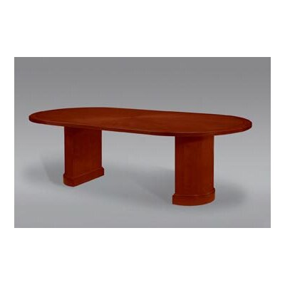 Belmont Racetrack Oval 30H x 48W x 96L Conference Table Finish: Brown Cherry