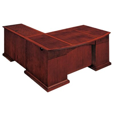 Del Mar L-Shape Bow Front Executive Desk with Right Return Orientation: Right Product Image 194