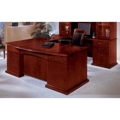 Del Mar U-Shape Bow Front Executive Desk with Right Return Product Image 3