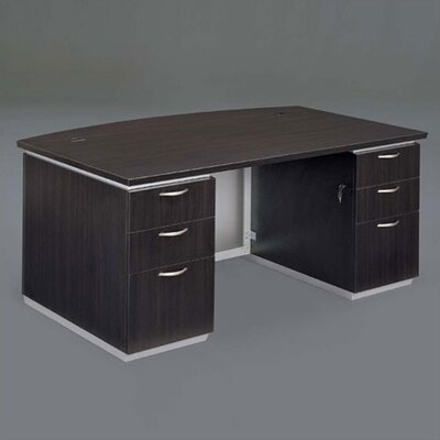 Pimlico Bow Front Executive Desk Finish: Mocha Laminate