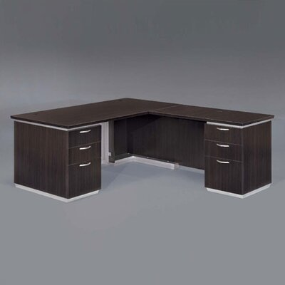 Pimlico Right L-Shape Executive Desk Finish: Mocha Laminate