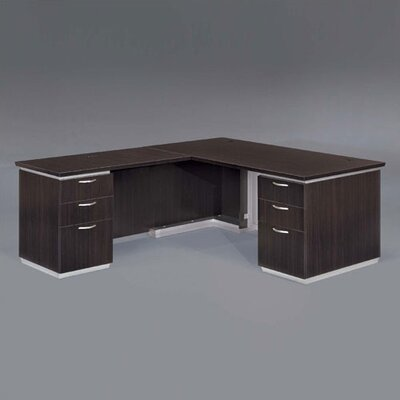 Pimlico L-Shape Executive Desk Finish: Mocha Laminate Product Picture 283