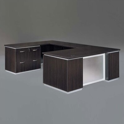 Pimlico U-Shape Executive Desk with Lateral File Finish: Mocha Laminate Product Image 53
