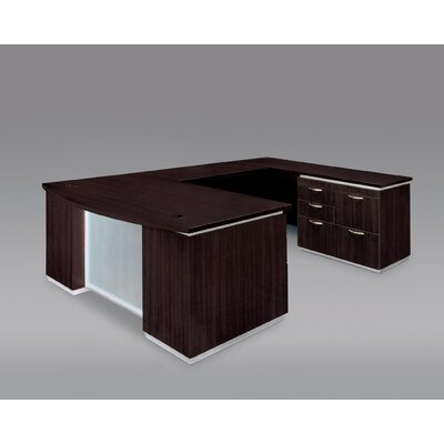 Pimlico U-Shape Executive Desk with Right Personal File Finish: Mocha Laminate Product Image 106