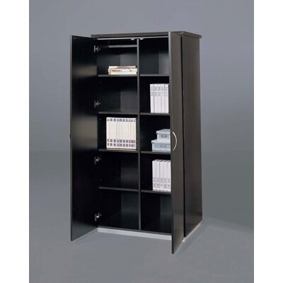Pimlico 2 Door Storage Cabinet Finish: Mocha Laminate Product Photo 3457