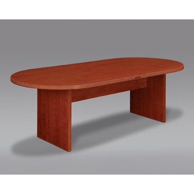 Fairplex Oval Conference Table Finish: Cognac Cherry, Size: 6 L