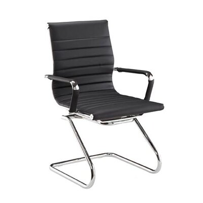 Pantera Guest Chair Finish: Black, Seat Material: Synthetic Leather