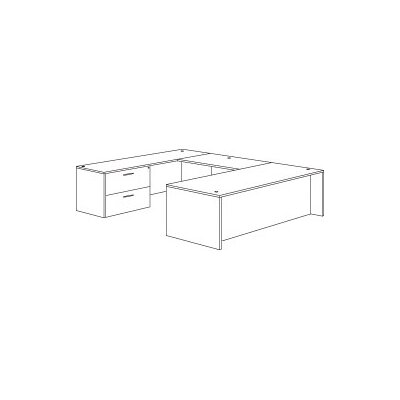 Right Left Lateral File U Shape Executive Desk Product Picture 795