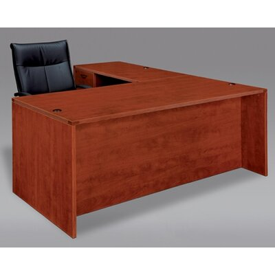Fairplex 29 H Left Desk Return Finish: Mahogany, Size: 29 x 48