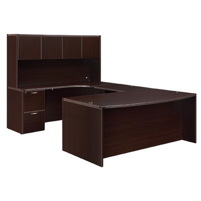 U Shape Executive Desk Hutch