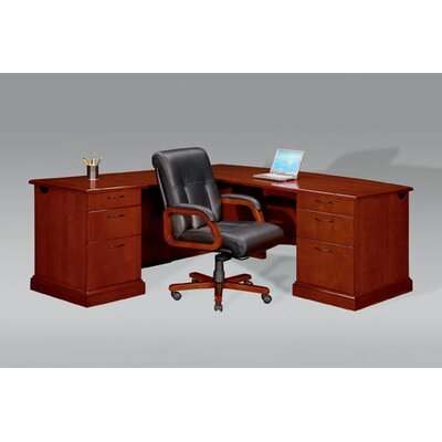 Right Drawers L Shape Executive Desk Orientation Belmont Product Image 163