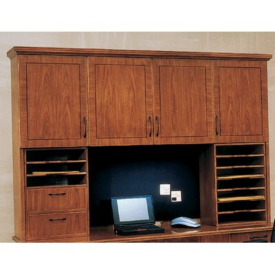 Belmont 50 H x 16.75 W Desk Hutch Finish: Executive Cherry, Return Molding: Yes