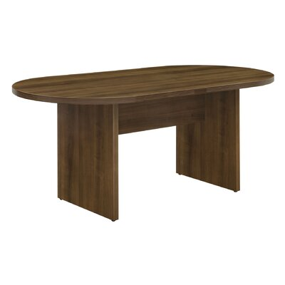 Fairplex Oval Conference Table Size: 35 W x 71 D