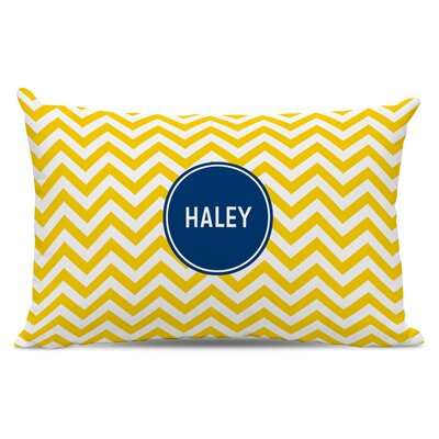 Chevron Block Personalized Cotton Lumbar Pillow