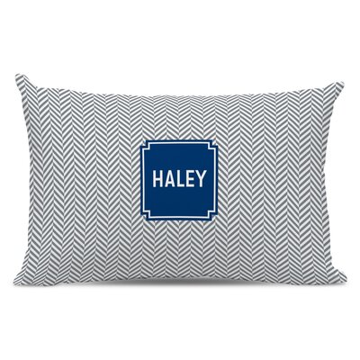 Herringbone Block Personalized Cotton Lumbar Pillow