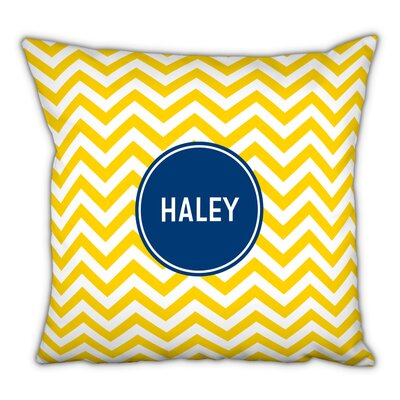 Chevron Block Personalized Cotton Throw Pillow
