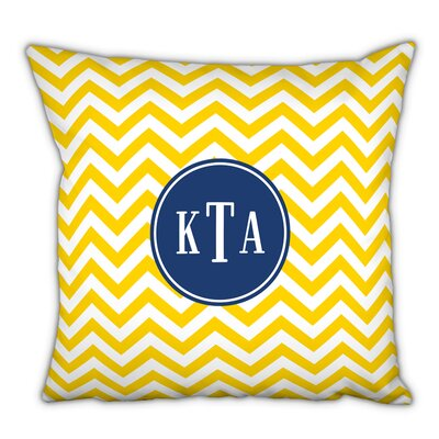 Chevron Classic Monogram Cotton Throw Pillow