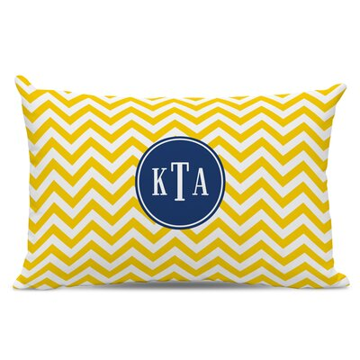 Chevron Classic Monogram Cotton Lumbar Pillow