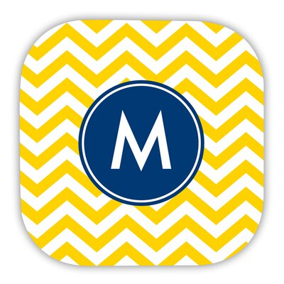 Chevron Single Initial Hard Back Coaster Letter: S